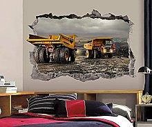 Cantiere Adesivo murale 3D Art Poster Decorazione