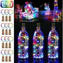 Cappuccio LED, 2M 20 luci LED per bottiglie, 12