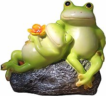 Carina rana coppia statua creativa resina