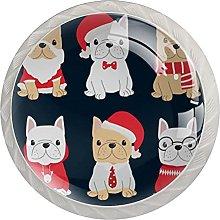 Carino francese Bulldog cucciolo di Natale