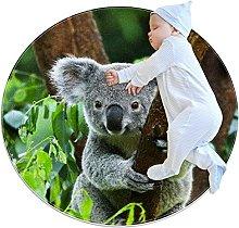 Carino Koala Zerbino Rotondo Lavabile Antiscivolo