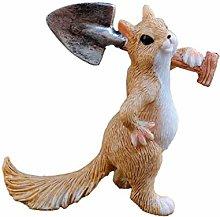 Carino mini statua dello scoiattolo, figurina