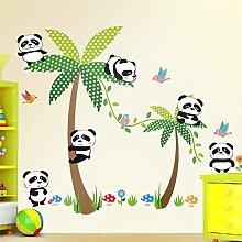 Carino Panda Palm Tree Bird Sticker Adesivo per