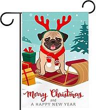 Carlino di Natale carlino cane slitta scatola