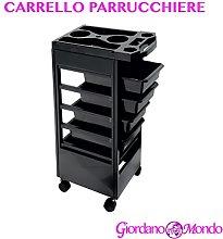 CARRELLO PER PARRUCCHIERI A 5 CASSETTI PORTA PHON