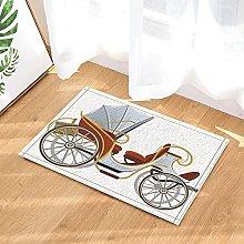 Carrozza vintage decorativa Tappetino da bagno