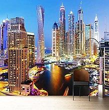 Carta da parati 3D Bella Dubai Paesaggio notturno