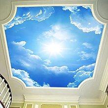 Carta Da Parati Autoadesiva Moderna 3D Cielo Blu E