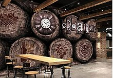 Carta da parati Barile di vino Barile di legno Bar