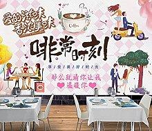 Carta da parati Cafe Romantic Love Couple Tooling