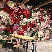 Carta da parati con fiori 3D Soggiorno romantico