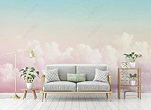 Carta da parati con nuvole di cielo rosa TV sfondo
