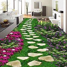 Carta da parati floreale 3D per pavimenti in