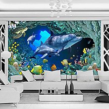 Carta da parati fotografica 3D HD Blu Sottomarino