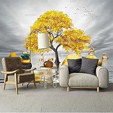 Carta Da Parati Fotografica Golden Tree Alce