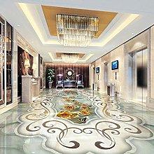 Carta da parati moderna per pavimenti in marmo 3D