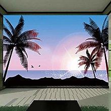 Carta da parati murale 3D Albero di cocco Spiaggia