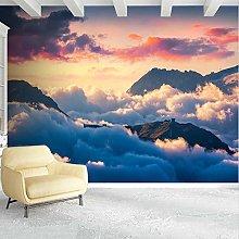 Carta da parati murale 3D Montagne Nuvole