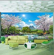 Carta da parati murale 3D Natura Paesaggio Lago