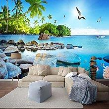 Carta da parati murale 3D Paesaggio marino Isola