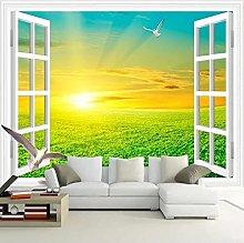 Carta da parati murale 3D Wilderness Sunrise View