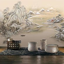 Carta da parati murale in stile cinese 3D con