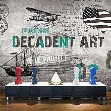 Carta da parati murale in stile industriale