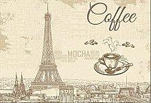 Carta da parati Parigi Torre Eiffel Caffè Tv