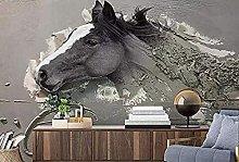 Carta da parati per foto 3D di cavallo bianco