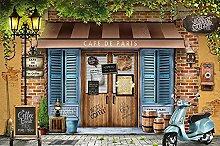 Carta da parati Retro Nostalgic Paris Cafe Sfondo