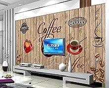 Carta da parati Sfondo retrò caffè murale-300 *