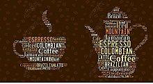 Carta da parati Tazza da caffè Parola inglese