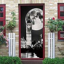 Carta Parati Adesivo per Porta Big Ben Poster