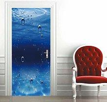 Carta Parati Porta Bolle Blu Door Murale Carta da
