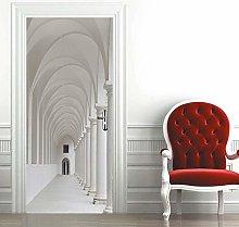 Carta Parati Porta Corridoio Bianco Door Murale