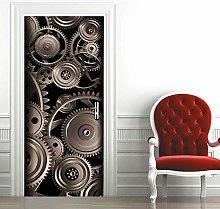 Carta Parati Porta Ingranaggio Meccanico Door