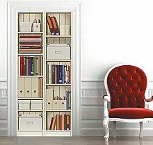 Carta Parati Porta Libreria Moderna Door Murale