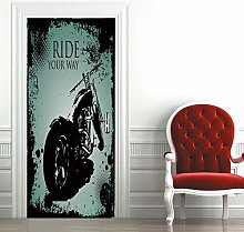 Carta Parati Porta Motociclo Door Murale Carta da