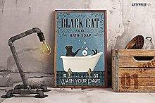 Cartello personalizzato per bambini Black Cat Sink
