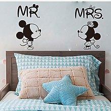 Cartone Animato Grande Mr Mrs Minnie Mouse Adesivo