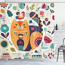 Cartone animato Tende da doccia Piccolo gatto