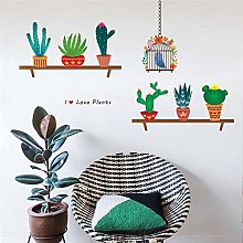 cartoon cactus piante uccelli adesivi per uccelli