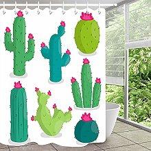 Cartoon cactus semplice tenda doccia tenda bagno