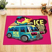 Cartoon gelato bus Indoor antiscivolo tappetino