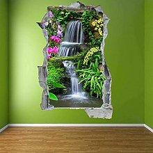Cascata Fiori 3D Adesivo Arte Muro Adesivo Murale