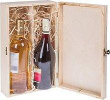 Cassetta in legno porta bottiglie di vino, ideale