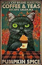 Cat Make for Coffee Tea Pumpkin Spice Fall