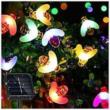 catena di luci solari a LED, 30 LED, impermeabile,