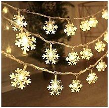 Catena Luminosa con Fiocco di Neve Stringa di Luce