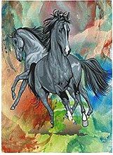 Cavallo Dell'Acquerello Bandiera del Giardino